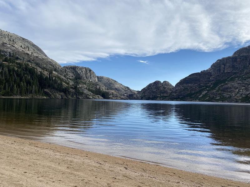 Benson Lake.  Pacific Crest Trail.