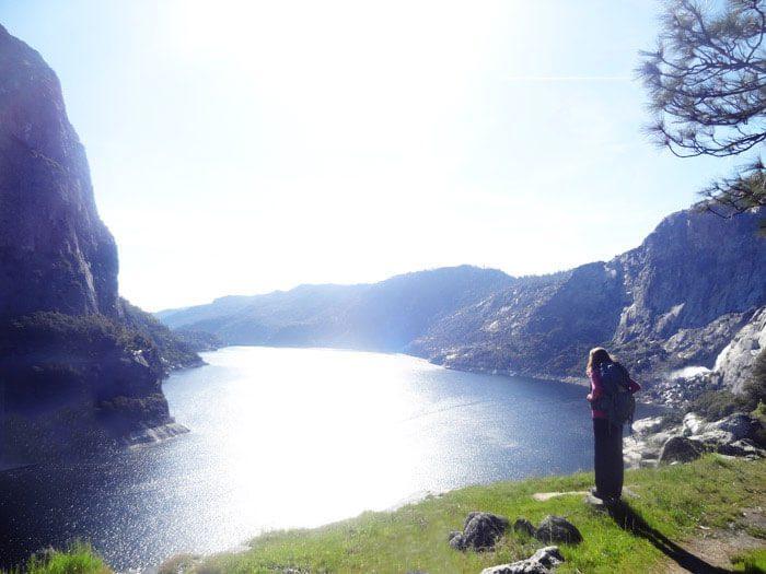 Enjoying views from the trail.  Hetch Hetchy.  Yosemite National Park
