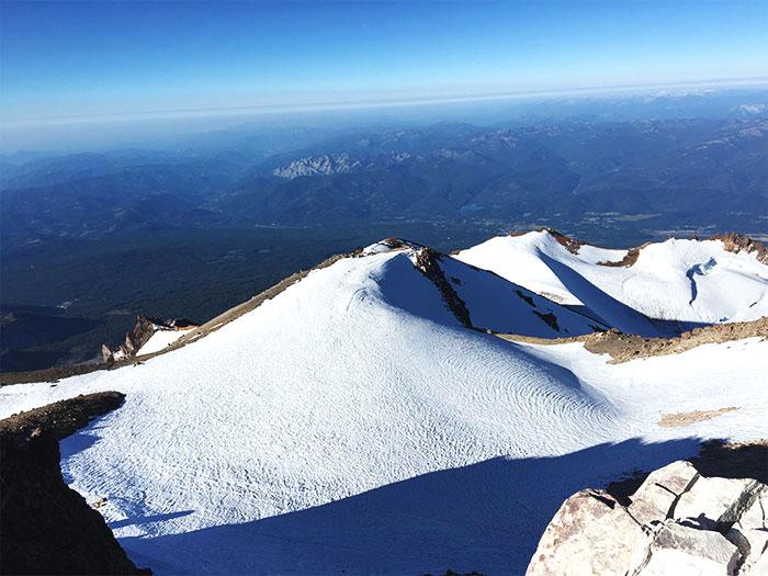 Views from the summit!  Mt. Shasta