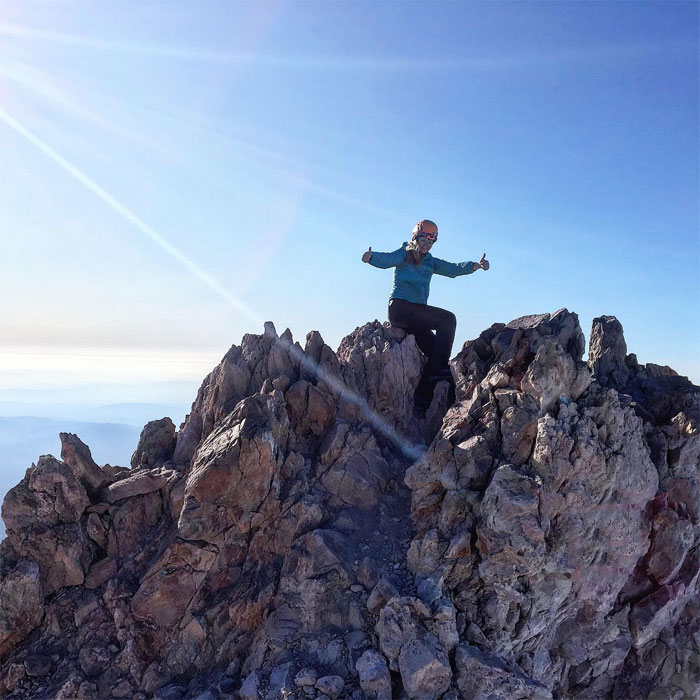 Glorious moment on the summit!  Elev: 14,180ft.