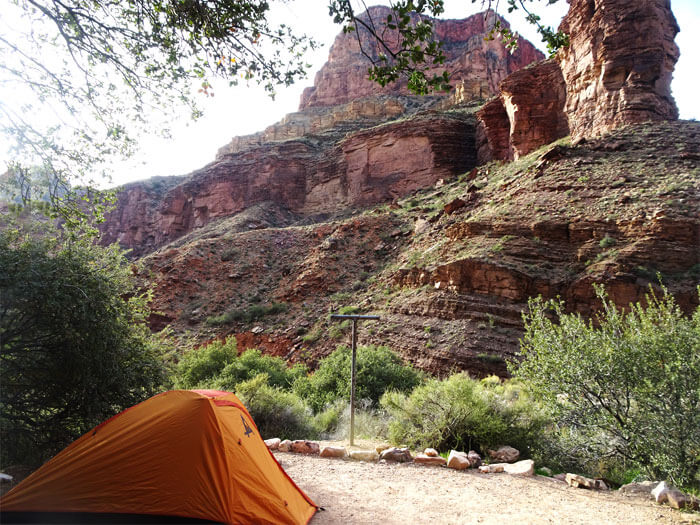 Camping at the bottom of Grand Canyon.  Cottonwood Campground.  Grand Canyon National Park
