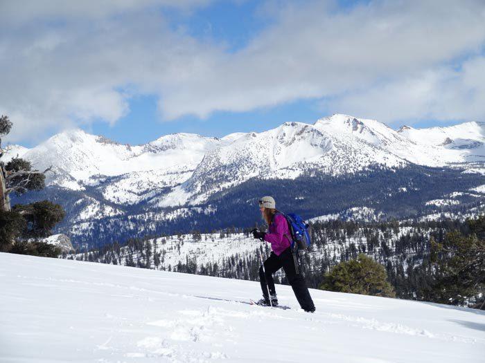 Snowshoeing on the Horizon Ridge Trail - Yosemite National Park, Ca.