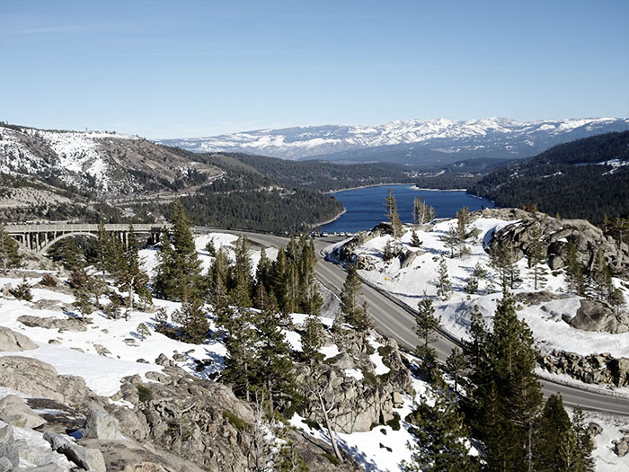View of Donner Lake and Rainbow Bridge