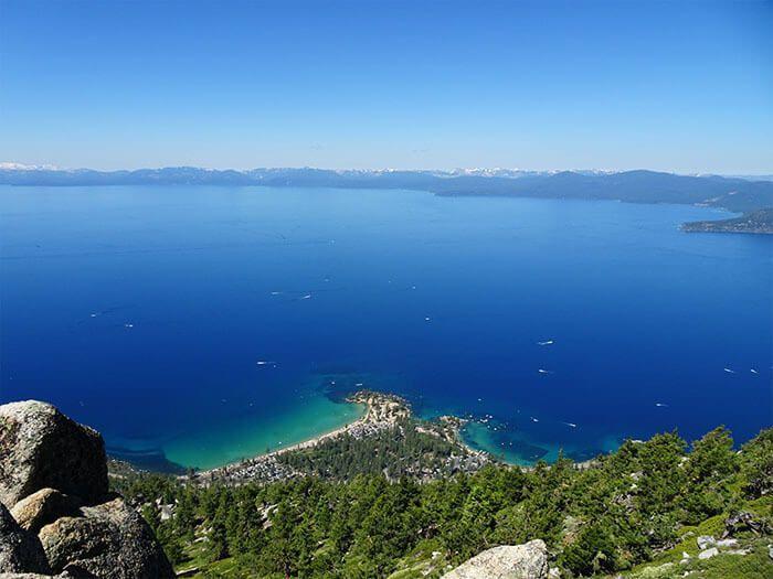 Sand Harbor Overlook.  Tahoe Rim Trail.