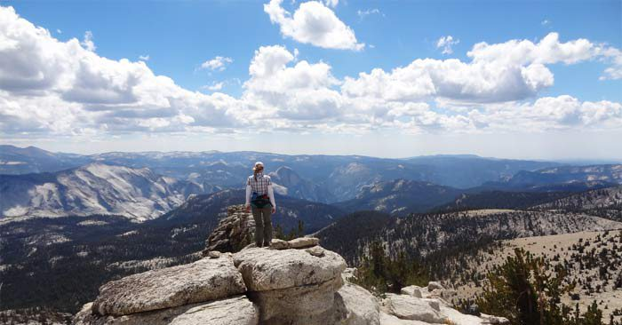 Taking a stroll on top of Mtn. Hoffman. 10,856ft.