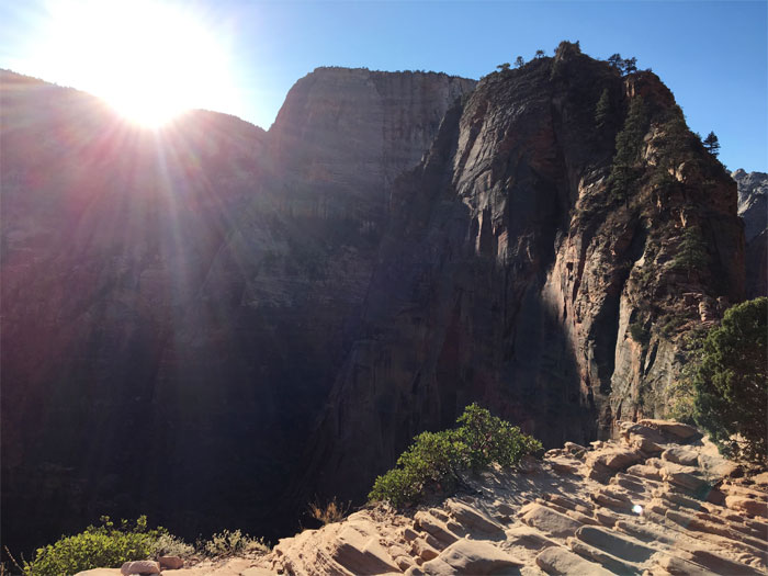 Angel's Landing Trail.  Zion National Park