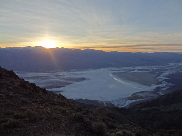 Sunset at Dante's View. Death Valley National Park