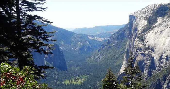 View of El Capitan and Yosemite Valley from the Four Mile Trail