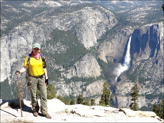 Here is me in my PSAR Uniform patrolling the Sentinel Dome Trail in Yosemite.