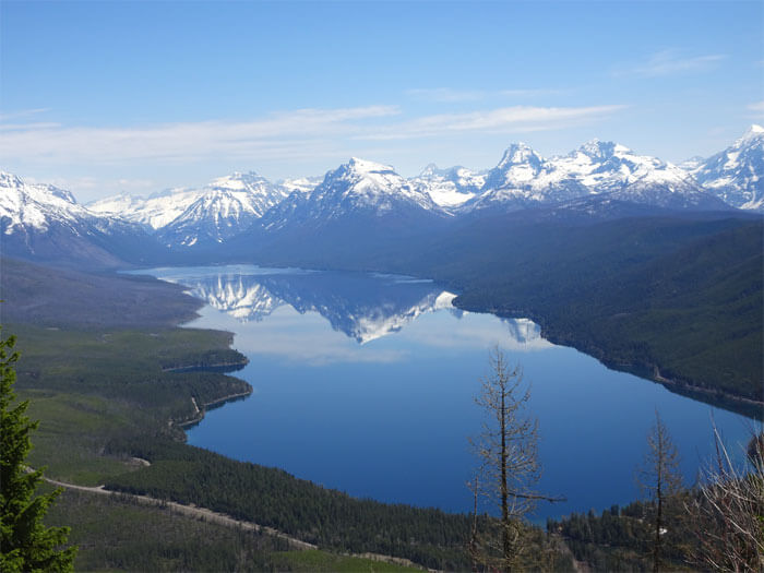 View of Lake McDonald from Apgar Lookout Trail. Glacier National ParkView of Lake McDonald from Apgar Lookout Trail. Glacier National Park