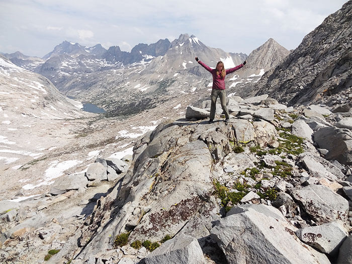 Views from the top of the world! Mather Pass. Elev: 12,100ft