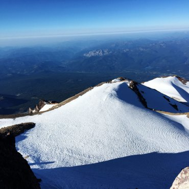 Views from the summit. Mt. Shasta.
