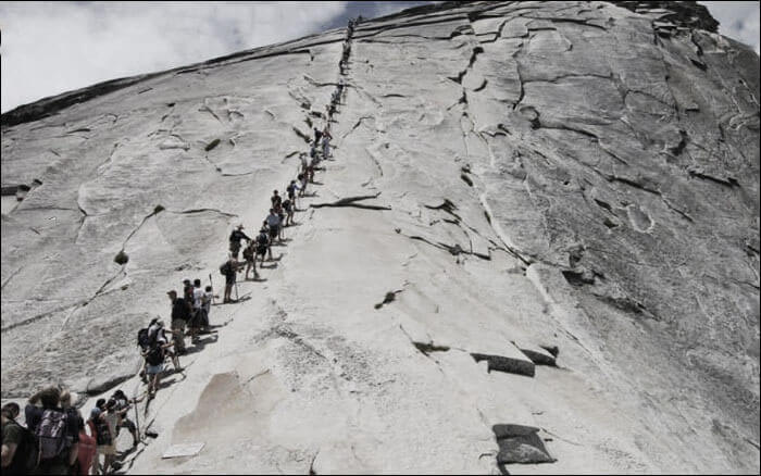 Hike Half Dome Solo