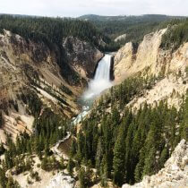 Lower Falls of the Grand Canyon of the Yellowstone.