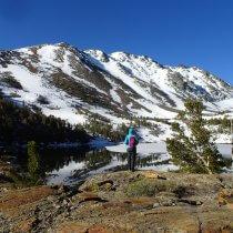 Olya On the Trail - Virginia Lake